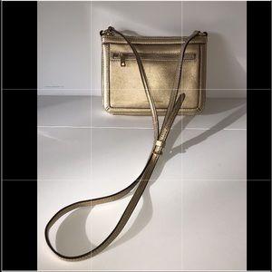 Ralph Lauren Gold Metallic leather bag